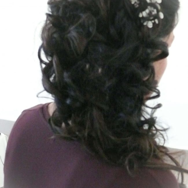 prueba novia peluqueria semirecogido