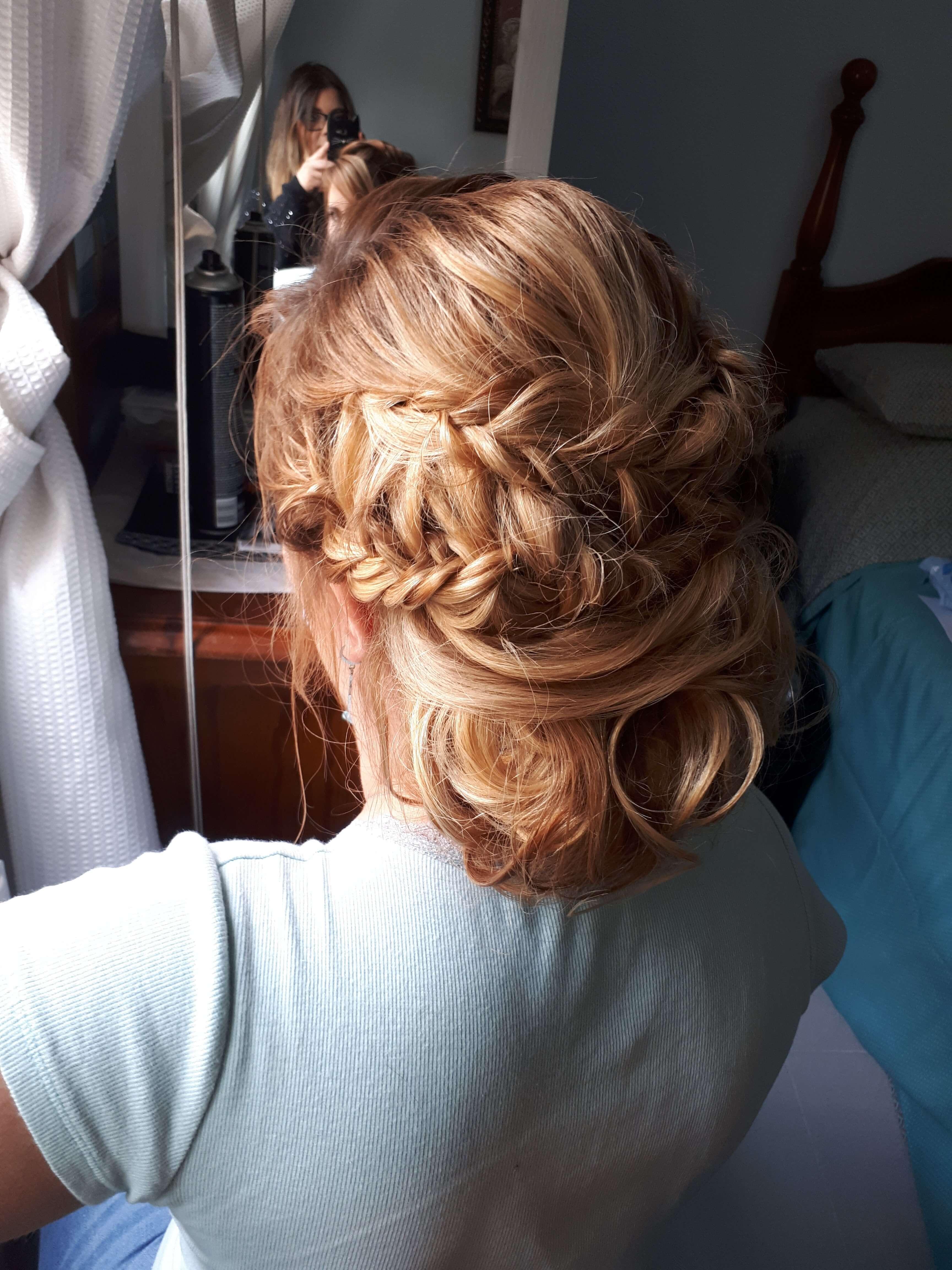 prueba maquillaje y peluqueria novia recogido bajo